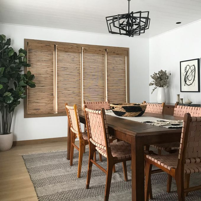 premium woven wood bamboo shades in Quince